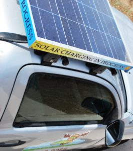 Solar powered awn care in Richardson